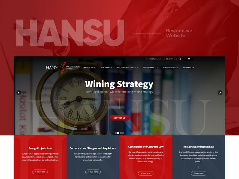 Hansu Legal Lawyer Law Responsive Website