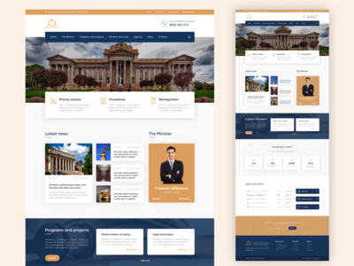 Ministry of Justice website website politic webdesign ui design ux design political minister government gov institutional administration court lawyer law justice ministry design inspiration web website web design