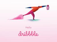 """Hello, Dribbble! - """"Basketball"""""""