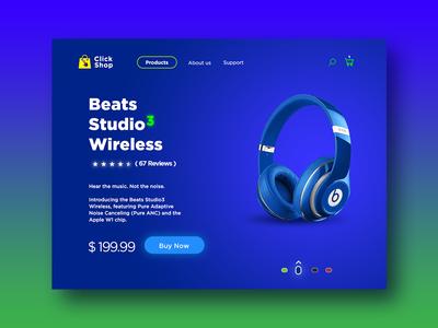 Product Shop UI colour new shot music product page ui graphic design uiux web design