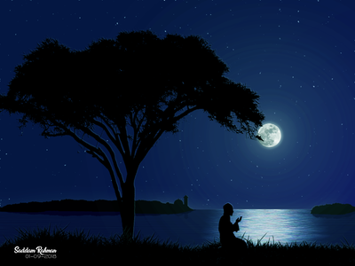 Please forgive me. star moonlight love islamic art art night illustration prayer muslim islam