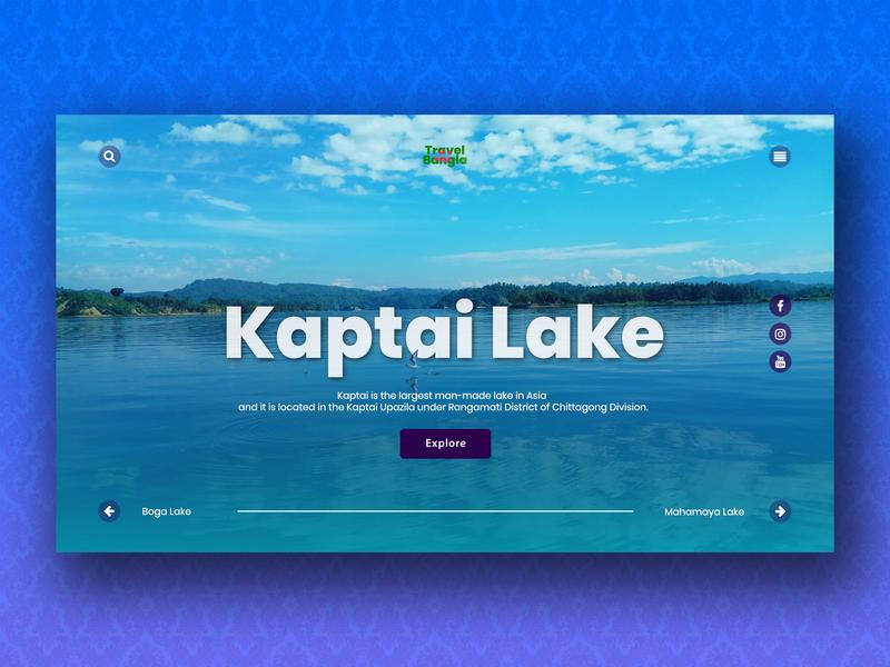 Travel Landing Page lake sky nature ui design ui concept travel landing page concept landing page design