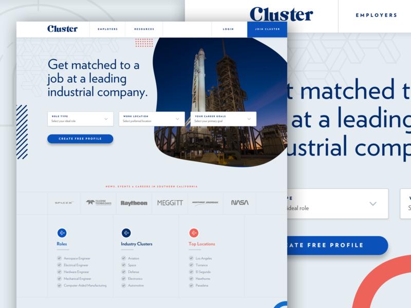 Cluster Web Re-Brand webapp app website uidesign los angeles branding ux ui design