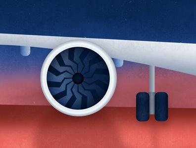 It's a bird, it's a plane...✈️ design jet engine jet airplane vector illustration design illustration art illustration