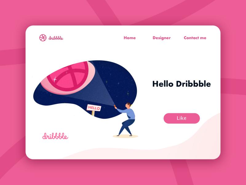 Hello Dribbble! icon ui illustration