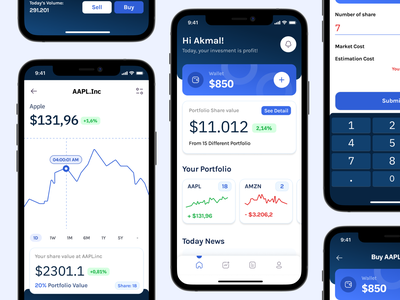 Vesmunt - Investment Apps graphic mutual fund stocks bond e-wallet money app money bank finance ux ui mobile chart investor trade stock investment invest