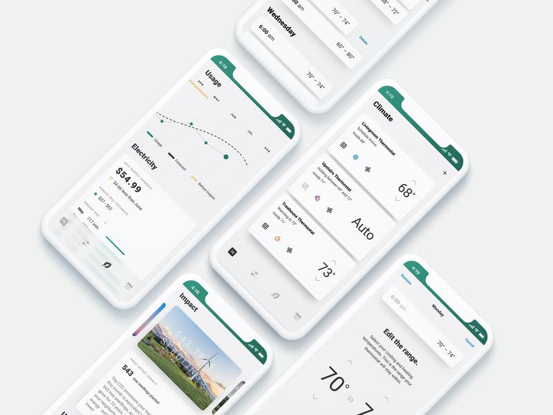 Smart-Home + Renewable Energy smart home app ux design ui design product design renewable energy smart home app smarthome