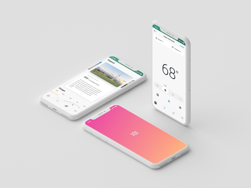 Inspire Smart-Home App mobile app smart home app smart home renewable energy ux design ui design branding product design