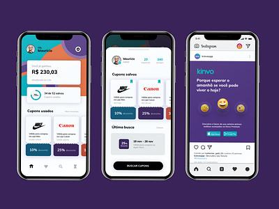 Vouchers and discounts app experience interface app voucher cupouns challenge ux ui design home screen