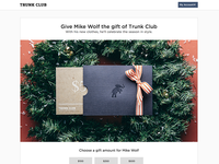 Holiday promotion landing page