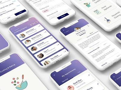 Finding Expert Mobile App adobe xd mobile app ux ui design design