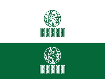 Maya Garden Logo vector logo restaurant logo