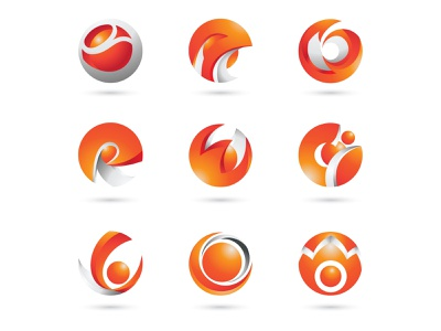 Circle Color Modern Logo Icon illustration design branding logo swirl circle logo circle