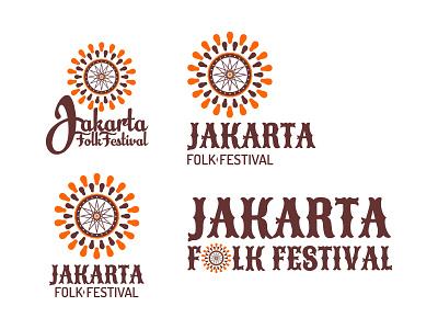 """Jakarta Folk Festival """" Design 2 """" branding musicfestival music logo jakartafestival"""