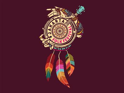 """Logo """" Jakarta Folk Festival """" design vector music musicfestival jakartafestival logo"""