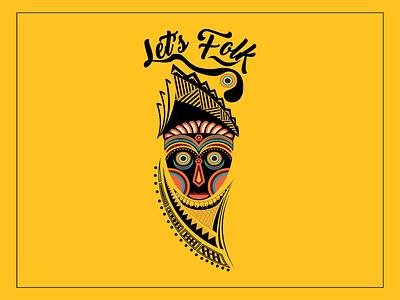 """Logo """" Lets Folk """" Music Indonesia vector design music musicfestival jakartafestival logo"""