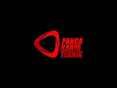 """Logo """" PT Panca Karya Teknik """" typography vector business card branding card name design logo"""