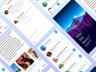 Blog Redesign for Mobile - Part 2 blog app design ux layout clean feed social post redesign ios iphone mobile blog article