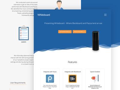 Whiteboard - Landing Page ux ui blackboard alexa skill voice alexa landing page whiteboard landing