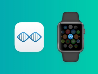 Bio Opps App Icons app apple ios icon brand branding watch apple watch logo iphone dna clean