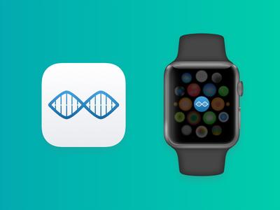 Bio Opps App Icons app apple ios icon brand branding watch apple watch logo iphone dna clean