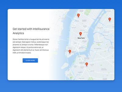 Getting started with Intellisurance Analytics product design widget web visualization visual stats statistics product material map finance analytics