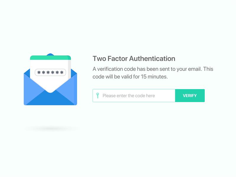 Two Factor Authentication web web design confirmation authentication two factor authentication tfa 2fa typography design vector app ux ui illustration