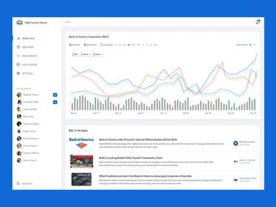 Dashboard Animation vector illustration sketch web design app ui ux finance app web dashboard finance chart analytics design visualization graph statistics stats fintech