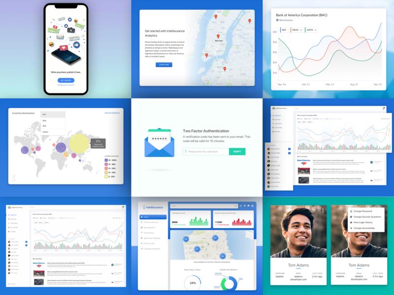 My 2018 Best Nine mobile landing graph bestnine topnine analytics visualization design web app ux ui