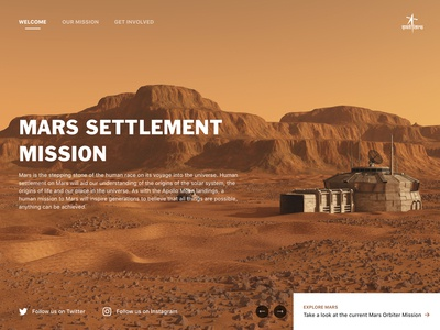 Mars Settlement Mission - Landing Page