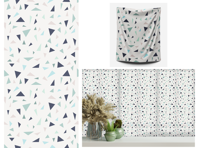 Terrazo blue nuace pattern interior ceramic tiles wallpaper fabric design art pattern design pattern