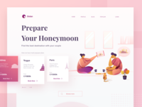 Honeymoon Destination Concept Web
