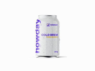 Howday Cold Brew Coffee Can package design can design coffee design drink minimalism cold brew coffee coffee logotype logo