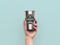 Shamrock brand design (branded cup)
