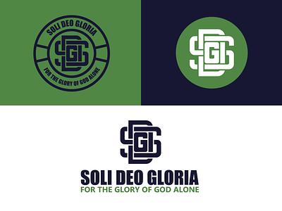 Soli Deo Gloria (branding) icon stamp design badge design logo mark monogram logo monogram letter mark branding and identity reformation green brand identity shop reformed christian typography monogram logo branding