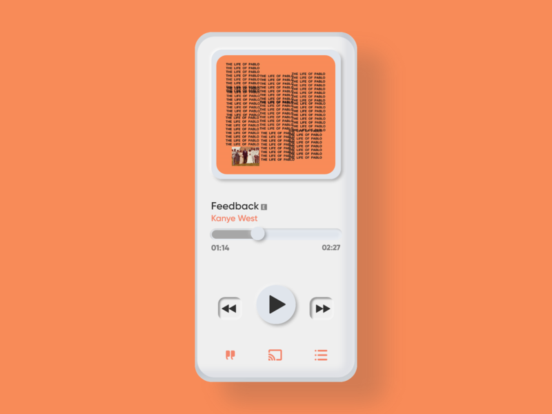 Neumorphic Music Player Design!