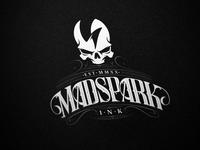 Tattoo Shop Logo tattoo skull spark type calligraphy lettering brand branding identity logo