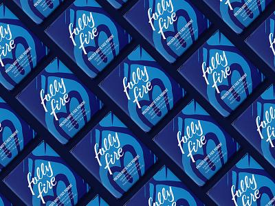 Folly Fire Packaging branding mark makeup cosmetics heart flame logo packaging