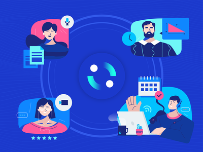 DELADI Services how it works explainer services user vector illustration