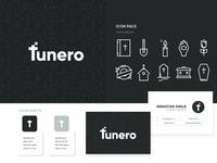 Funero Logo cross funeral design brand typography illustrator logo mark mark logo design branding identity logo
