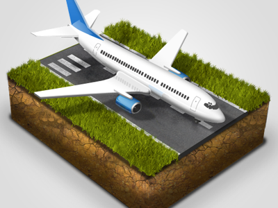 Airplane icon airplane block boeing plane runway