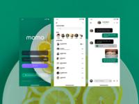 """""""momo"""" chat app Designe"""