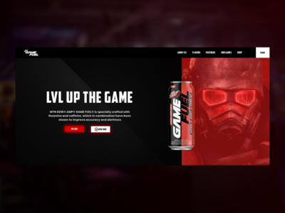 Gamefuel website redesigning