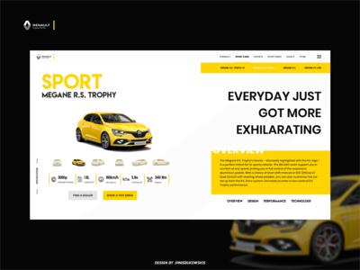 Redesign Renault Sport Website