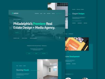 Reelister Branding + Landing Page Concept