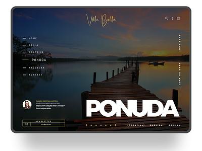 Villa Bella ui design website design web design design