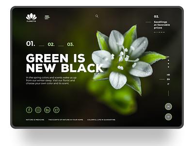 Floretta graphic design web desgin inspiration typography design website design