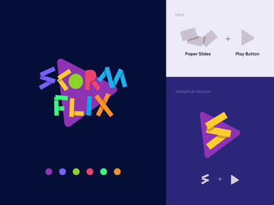 Logo - ScormFlix scorm library online education education logo education learning elearning branding design logodesign branding logo