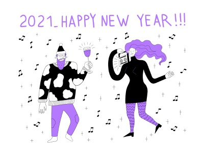 Happy New Year!!! happy new year illustration design