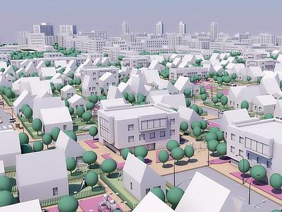 3d city cinema4d illustraion urban render building model architect street 3d model town 3d city 3d 3d modeling